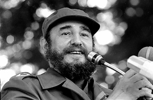 Fidel Castro speaks during a visit to Luanda, Angola in March, 1984.