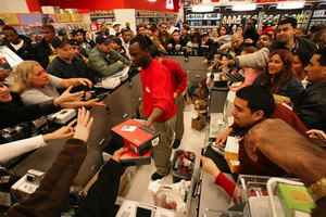 A Black Friday scene in the US.