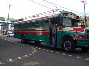 Camioneta, a public bus in Guatemala City.