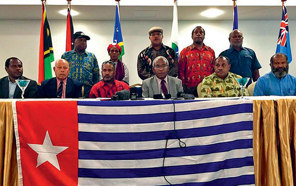 ULMWP leaders at the Melanesian Spearhead Group, 2015.