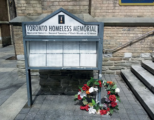 The Toronto Homeless Memorial