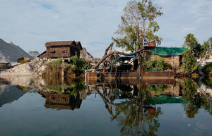 The sleepy fishing village of Koh Sralao, situated on a small island in a mangrove-lined estuary, is in the frontline of the resistance against rampant sand-dredging.Photo: Rod Harbinson / RodHarbinson.com