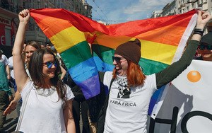The flag of equality has many colours: a scene from the March of Equality, organized by LGBT and human rights activists in Kiev, Ukraine, in June 2016.