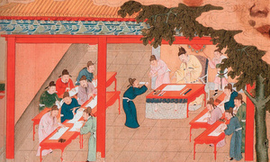 Mistaking high test scores in China as a measure of quality, the West has adopted an exam-orientated system.Image: Song Dynasty print under a CC Licence