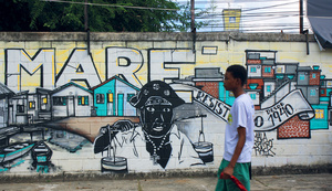 The spirit of creative resistence is strong in the Rio favela of Maré. But Brazil is suffering a 'genocide' of black youth. Photo: Vanessa Baird