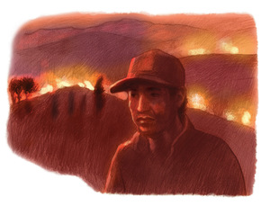 Cochabamba fire.Illustration by Sarah John