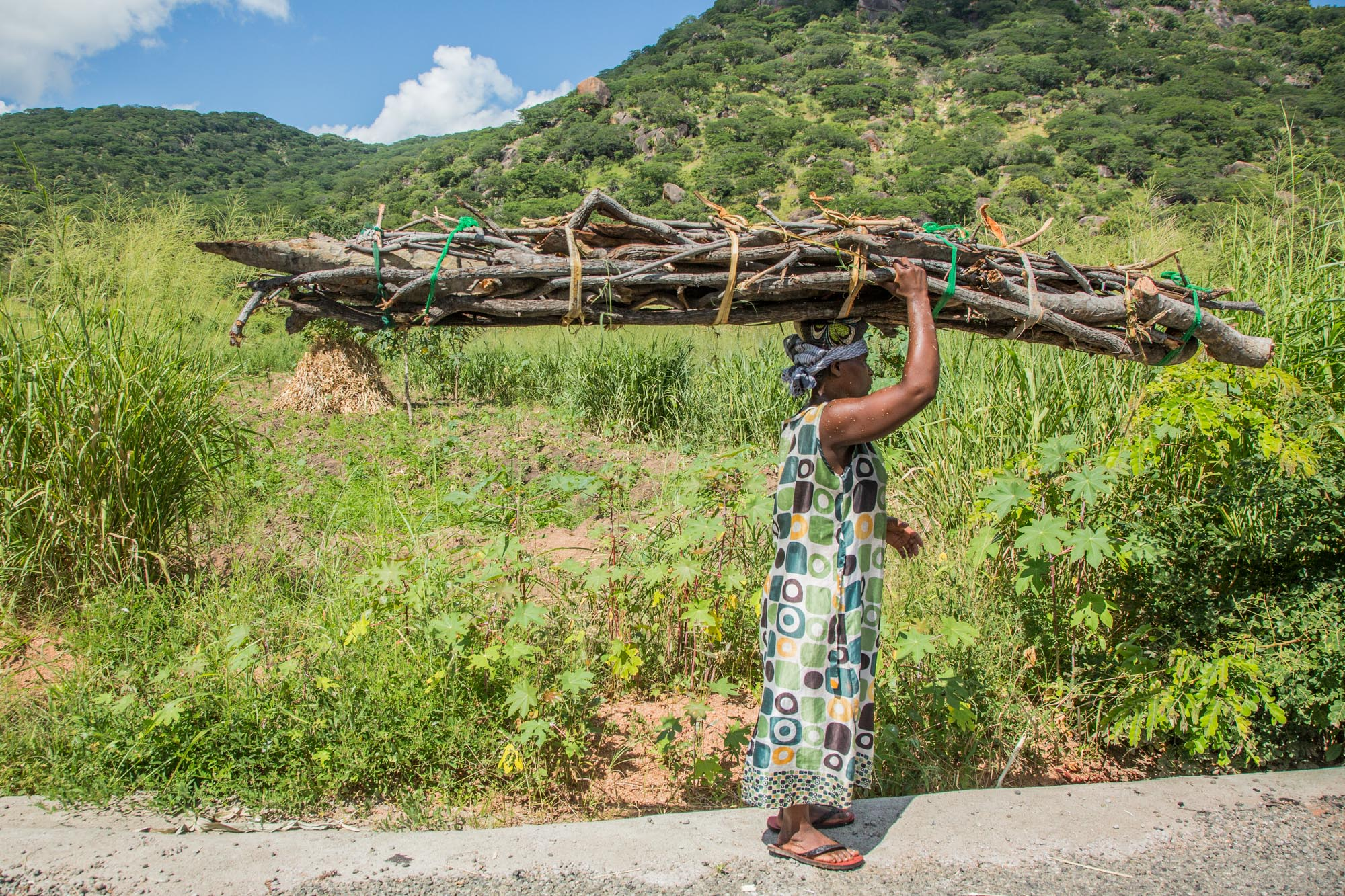 Women in Malawi spend up to 6 hours a day collecting firewood for cooking and heating.