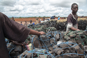 On the Mgona charcoal market in Lilongwe.