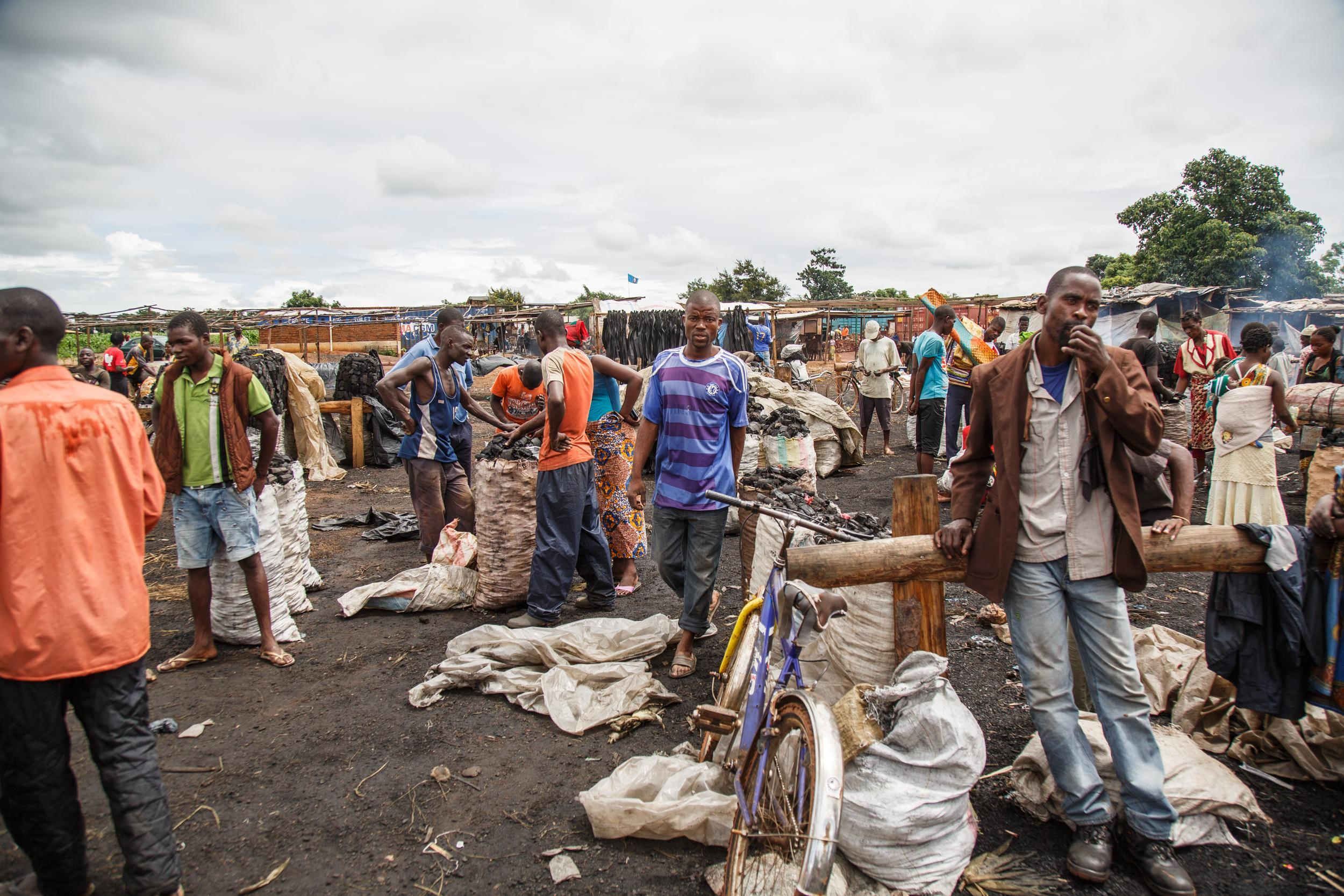 The Mgona charcoal market in Lilongwe is well organised, even though the business is illegal.