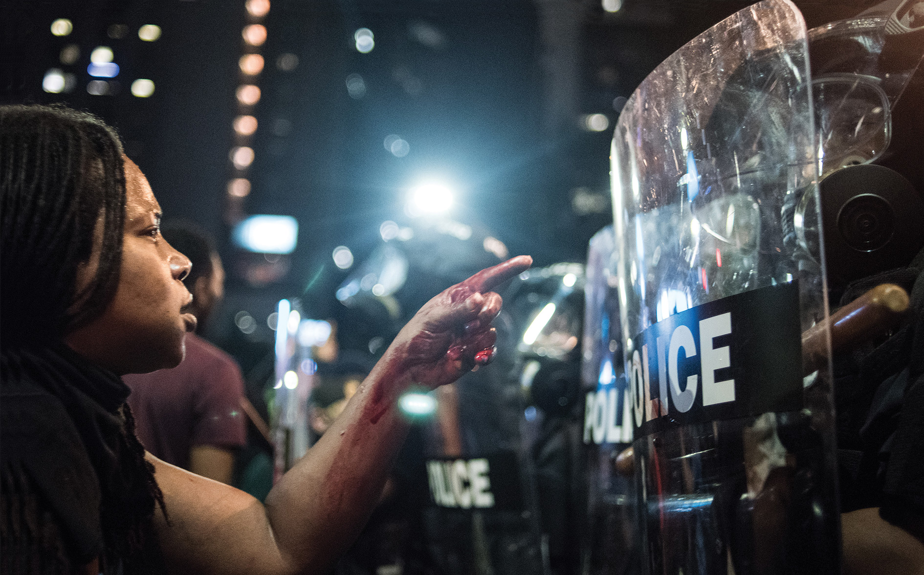 J'accuse: protests and riots rage for days after Keith Lamont Scott is shot dead by police in Charlotte, North Carolina, September 2016.