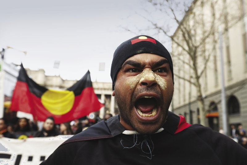 Outrage at a Melbourne protest, July 2017, after the man who ran down 14-year-old Elijah Doughty was found not guilty of manslaughter.