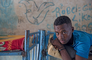 An Eritrean teenager stuck in Shagarab refugee camp, Sudan. Is EU money keeping him there? Photo: Sally Hayden