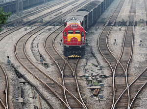A freight train that originated in Duisburg, Germany arrives in Dazhou, China.Photo: China Stringer Network