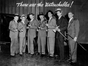 Photo of the cast for The Untouchables, 1956.