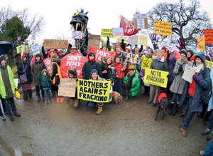 Civil society protests against fracking in Cheshire, 2016. Is a new wave of resistance coming?