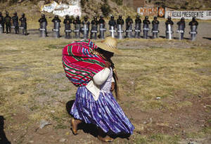 For seven weeks Puno was paralyzed by strikes and protests against mining and the government.