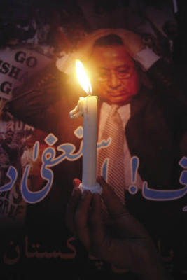 A guiding light: a Labour Party supporter remembers political workers killed in the 2007 Karachi riots. The Pakistani Left has since regrouped and hopes to lead the way in the country's future.