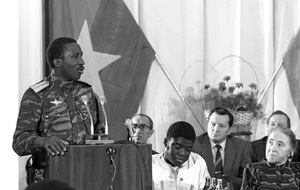 Thomas Sankara in Moscow, 1986. Two years before in his speech to the United Nations, Sankara said that he spoke 'not only on behalf of Burkina Faso but of all those who suffer'.Photo: TASS / Getty