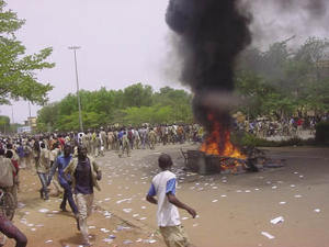 Students rioting in Ouagadougou on 23 MayAFP/Gamma