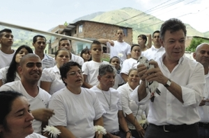Juan Manuel Santos: from hawk to dove?Javier Casella/Colombia's Presidential Office/Handout/Reuters