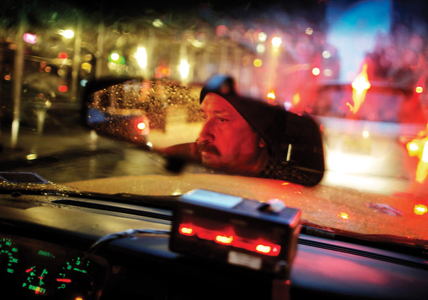 Mean streets: taxi driver Mohammed Khan works a 12 hour day, six days a week in New York City just to make ends meet.