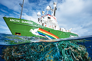 The rubbish that's visible near the surface is just part of the problem of ocean abuse – and planned future exploitation.Photo: Justin Hofman/Greenpeace