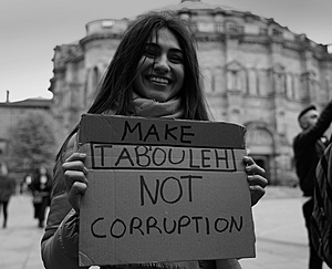 """Make tabouleh not corruption""Photo: Lebanon solidarity/Iain Masterton/Alamy"
