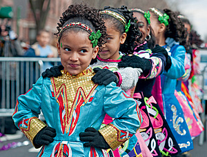 Previous page:  Students perform Irish dancing at the Queens Saint Patrick's Day Parade, New York. For people from ethnic minority backgrounds living in Ireland, the friendly image of the 'invisible border' does not apply – racial profiling by police and immigration officials takes place at crossing points and in-country.Photo: Richard Levine/Alamy