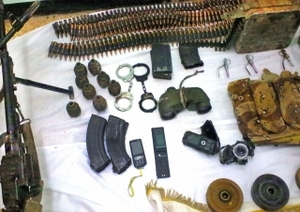 Weapons allegedly used by the terrorists and confiscated by the Algerian security forces.AP / Press Association Images