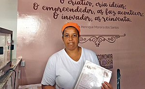 Daiana Borges says she gained dignity after she started to sell her products: 'Before, I could not look people in the eye.'Photo: Vanessa Martina Silva