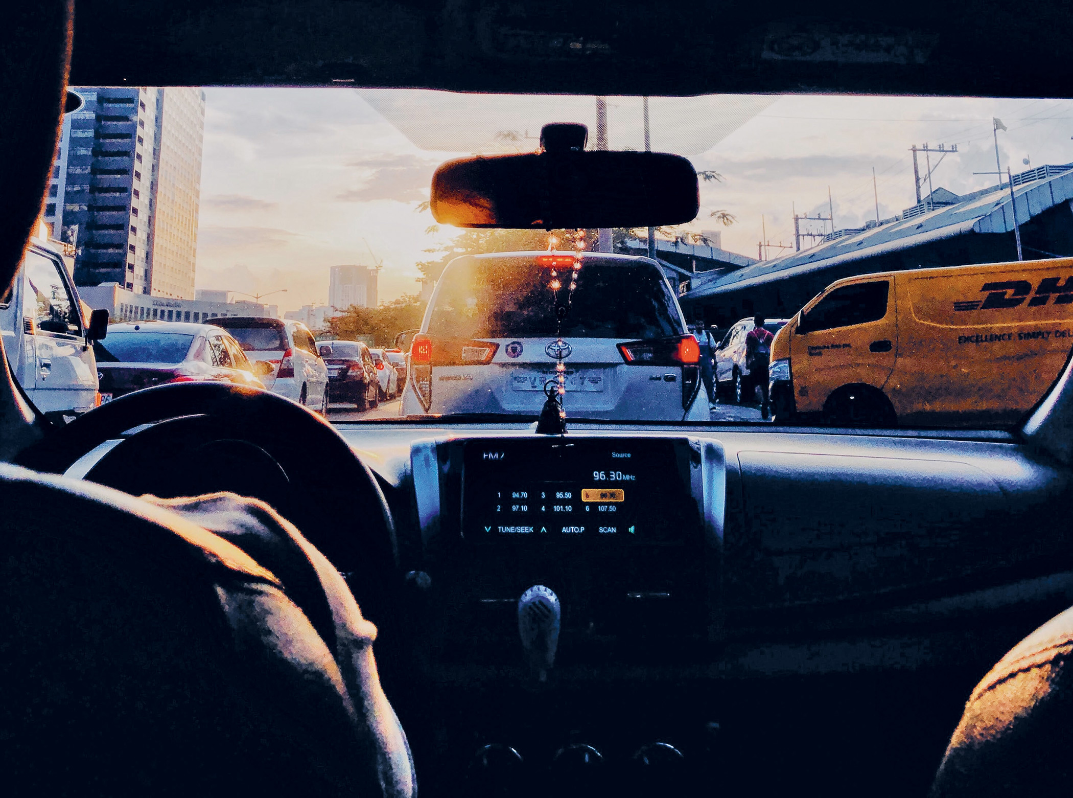 In a jam: sitting in traffic in Metro Manila, the Philippines.