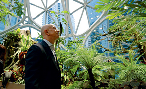 Amazon for the Amazon? Founder Jeff Bezos at his firm's HQ in Seattle. Photo: Ted S Warren/AP