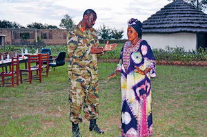 Betty Bigombe with the late General Robert Aronda Nyakairima, a Ugandan military commander who led the fight against Joseph Kony's Lord's Resistance Army.Photo: Uganda People's Defense Forces