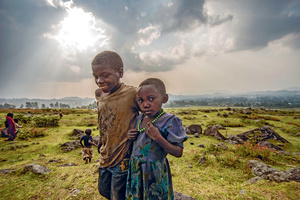 A brighter future awaits? Children of the historically marginalized Batwa people, pictured here in the Virunga mountains, are set to gain the right to a free education under new legislation.Photo: Tommy Trenchard/Panos