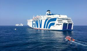 Italy is under pressure to stop using offshore quarantine ferries like the Allegra.Photo: Karlos Zurutuza