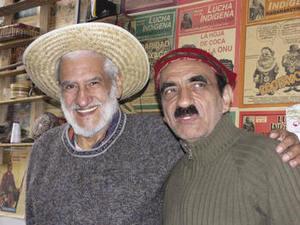Leading the way: Blanco with Enrique Fernández, editor of Lucha Indígena.