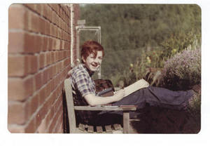 Happy days: George Marshall in the kitchen garden, Forest of Dean, early 1970s.