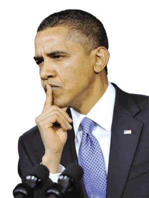 There may be trouble ahead… President Obama in pensive mood.
