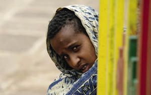 Looking into an uncertain future - a girl outside the St Mariam Coptic Orthodox church in Entoto, on the outskirts of Ethiopia's capital, Addis Ababa.Thomas Mukoya / REUTERS