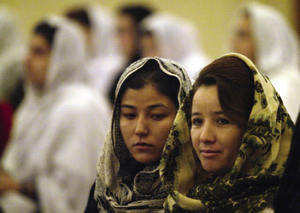 Afgan women are conditoned to mistrust each other.Radu Sigheti / Reuters