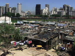 One country, two worlds: 20,000 poor Argentines and immigrants live in the Buenos Aires slum known as Villa 31.