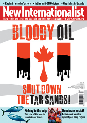 NI 431 - Bloody oil - shut down the tar sands! - April, 2010